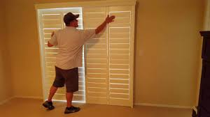 Bypass Shutters For Patio Doors Closed Bypass Shutter Application And Use Youtube