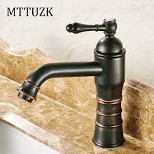 mttuzk bathroom faucet oil bubed black copper and cold water