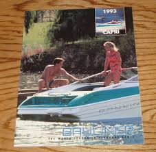original 1993 bayliner capri sales brochure 93 cuddy bowrider