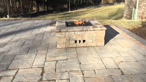 Diy Gas Firepit by Pool Deck Patio Near Potomac Md With Custom Gas Fire Pit Youtube