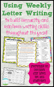corkboard connections using weekly letter writing in the classroom