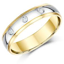 yellow gold wedding band with white gold engagement ring luxurious and diamond white gold wedding rings home