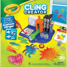 crayola cling creator kids activity kit custom window clings
