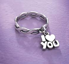 avery mothers ring dangle ring with i you charm jamesavery notes