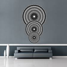 circle wall stickers tagged geometric fabric wall sticker mural with three circles