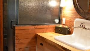 Rustic Cabin Bathroom - portfolio julia williams interiors llc