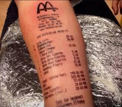 teenager stian ytterdahl gets mcdonald u0027s receipt tattooed on arm