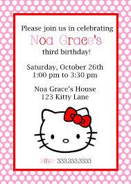 hello kitty ticket invitations template