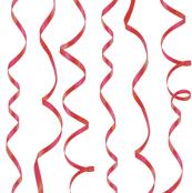 balloon ribbon white curling ribbons on green giftwrap weavingmajor spoonflower
