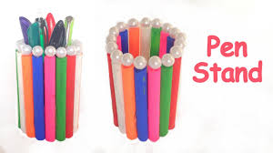 Pencil Holders For Desks Diy How To Make Pen Stand Pencil Holder Desk Organiser Easily