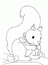 squirrel coloring pages coloringpagesabc squirrel coloring page in