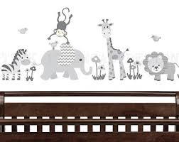Safari Nursery Wall Decals Safari Wall Decal Nursery Wall Decal Mini Decal Giraffe