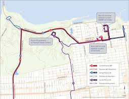 San Francisco Muni Map 28 28r 19th Ave And 43 Masonic Route Changes Sfmta