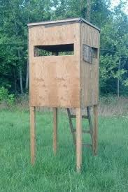 Building A Hunting Blind Free Plans 12 U0027 Wood Tower Stand Shooting House Pinterest
