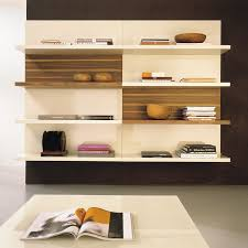 White Modern Bookshelves by Brown Modern Shelving Units Applied On The White Ceramics Floor It