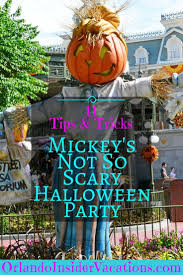 trick or treat tips at mickey s not so scary halloween party and