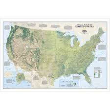 Map Of United States Physical Features by United States Physical Wall Map National Geographic Store