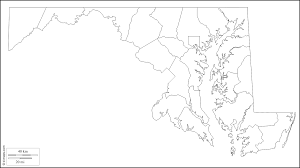 Blank Map Of Us by Map Of Maryland Counties Map Of Maryland Counties Map Of