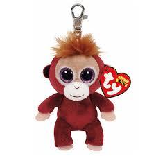 ty beanie boos boris monkey keyring clip beanie boos