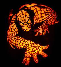 free spiderman pumpkin stencil carving pattern designs