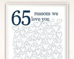 65 wedding anniversary 65 years etsy