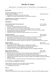 Sample Resume For Therapist by Mental Health Counselor Resume Http Resumesdesign Com Mental