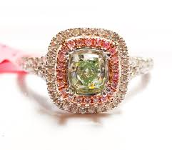 engagement rings sale 1 02ct fancy green pink diamond engagement ring