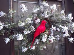 wreath cardinal swag bird nest by luxewreaths