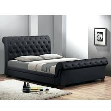 modern upholstered beds with tufted headboards leighlin black