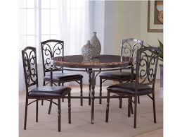 bernards tuscan 5 piece metal faux marble dinette table set