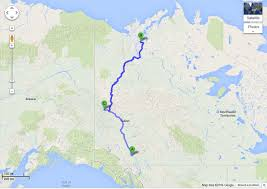 Alaska Route Map by Moto Ak U2013 Dempster Highway To Inuvik Amytracker