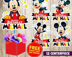Mickey Mouse Center Pieces Mickey Mouse Centerpiece Etsy Ca