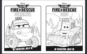 free disney planes fire rescue coloring pages activity sheets