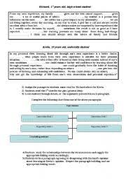 collection of solutions esl writing paragraphs worksheets about