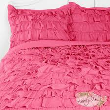 pink waterfall ruffle bedding set girly rooms pinterest