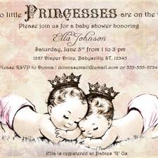 invitations templates u2013 elegant baby shower invitations for twins