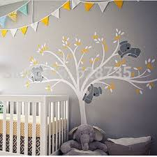 large nursery wall decals oversized large koalas tree vinyl wall sticker for room decor