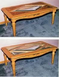 Woodworking Plans Oval Coffee Table glass topped coffee table plans furniture plans and projects