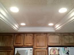 recessed lighting in kitchens ideas remove fluorescent lights replace with can lights and crown