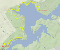 French Creek State Park Map by Topo Adventure Sports