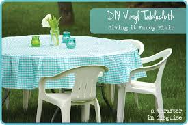 Fitted Oval Vinyl Tablecloths A Thrifter In Disguise Operation Vinyl Tablecloth
