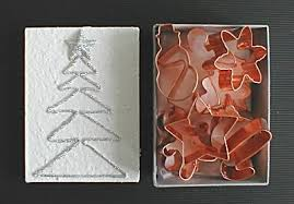 silver sparkle christmas cookie cutter set