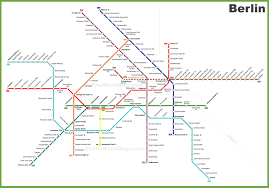 Green Line Metro Map by Berlin Metro Map