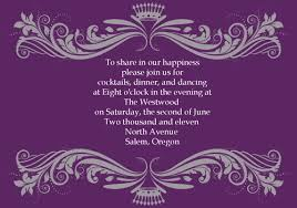 Wedding Reception Card Vintage Purple Damask Custom Wedding Invitation Cards Ewi047 As