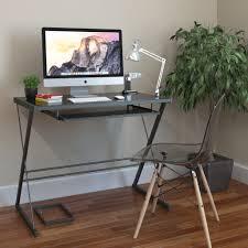 Metal Computer Desk Glass And Metal Computer Desk Home Office Furniture Set Eyyc17 Com