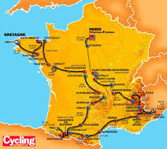 Toulouse France Map by Map Of Tour De France Recana Masana