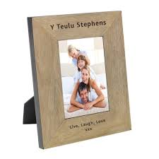 personalised welsh photo frames exclusive wooden designs