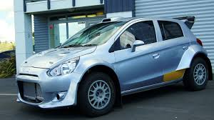mitsubishi mirage evo nzrc2014 brian green property group new zealand rally