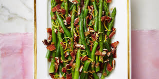 asparagus thanksgiving nutty green beans and asparagus with bacon recipe good