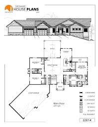 house plans with 4 car garage 2297 r rancher spokane house plans